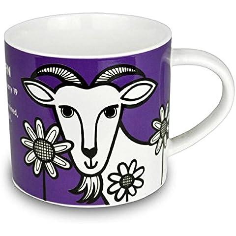 Jane Foster–Taza de porcelana china del zodiaco–Capricornio Signo taza. Caja de Regalo