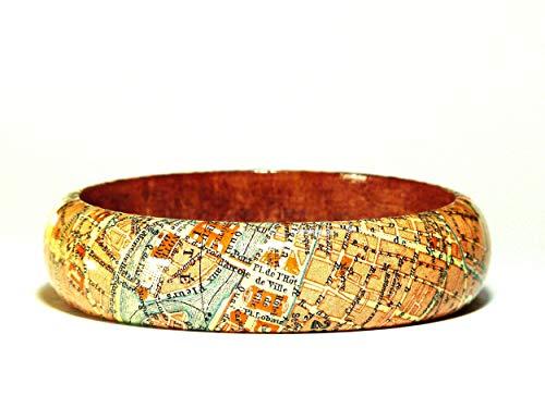 Armreif PARIS 1923 Stadtplan inkl. Geschenkverpackung