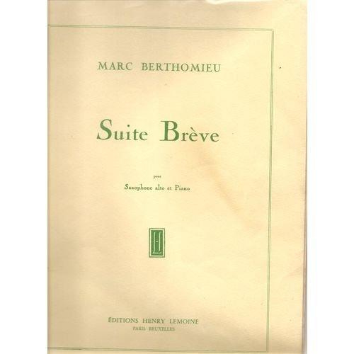 Partition : Suite Brève - Saxophone et ...