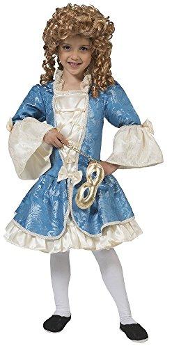 Barock Kostüm Johanna für Mädchen Gr. 140 (Creme Mädchen Kostüm)