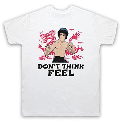 Bruce Lee Don't Think Feel Herren T-Shirt Weis