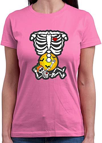 Ninja Baby Rosa Kostüm - HARIZ  Damen T-Shirt Rundhals Baby Hexe Halloween Kostüm Horror Umhang Plus Geschenkkarten Rosa L