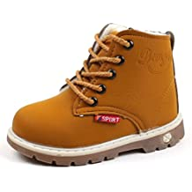 Botas Niño invierno Amlaiworld Martin Botas de Chicos Chicas Sneaker patucos Zapatillas calientes de Bebé niños niñas (21, Amarillo)