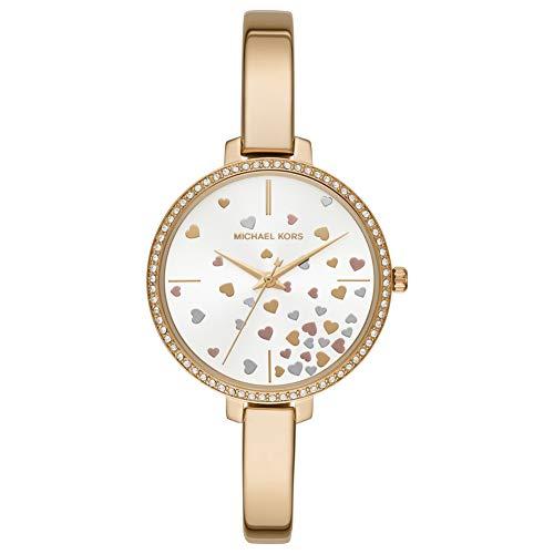 Michael Kors Damen Analog Quarz Uhr mit Edelstahl Armband MK3977