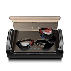 Arbily Bluetooth Ausinės Kabellos True Wireless IN Ear Earbuds mit Portable Ladebox 3000 mAh, 135 Stunden Spielzeit IPX6 Wasserdicht Bluetooth 5.0 Ohrhörer Sport, Power Bank für Smartphone