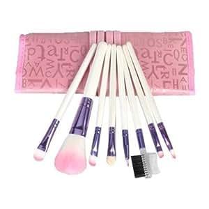 8pcs Pro Rose pinceaux de maquillage avec sac