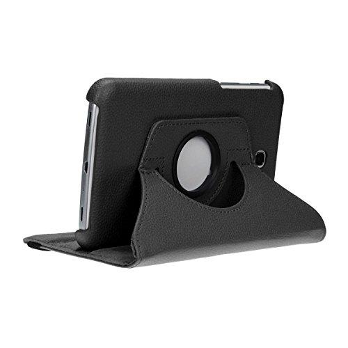 doupi Deluxe Custodia per Samsung Galaxy Tab 4 (7 Pollici), 360 Gradi Rotable Protezione con Smart Funzione Sleep/Wake Up Etui Stare in Piedi Protettiva, Nero