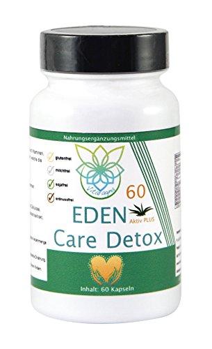 VITARAGNA Eden Care 30-Tage Detox-Kur Plus, Komplex mit Mariendistel-Extrakt, Q10, Cholin, ALA, hochdosiert, natürlich, vegetarisch, vegan, 60 Kapseln