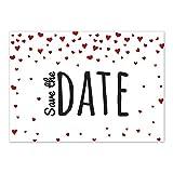 15 x Save the Date Karten mit Umschlag / Eine Karte voller Herzen / Hochzeit / Heirat / Feier / Liebe / Einladung / Verkündung