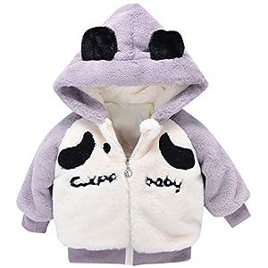 Proumy ◕ˇ∀ˇ◕Baby Mädchen Jungen Cartoon Fleecejacke Fleece Mantel Baby Winterjacke Wintermantel mit Fleece und Kapuzen Parkas Jacke