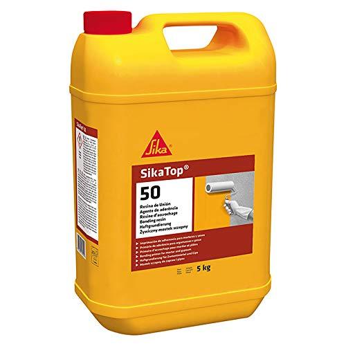 SikaTop 50 Resina de Unión, Imprimación de adherencia para morteros y yesos, Transparente, 5 kg