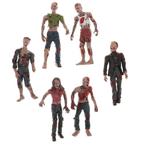 B Blesiya 6X Figura Acción Modelo Zombies Plástico