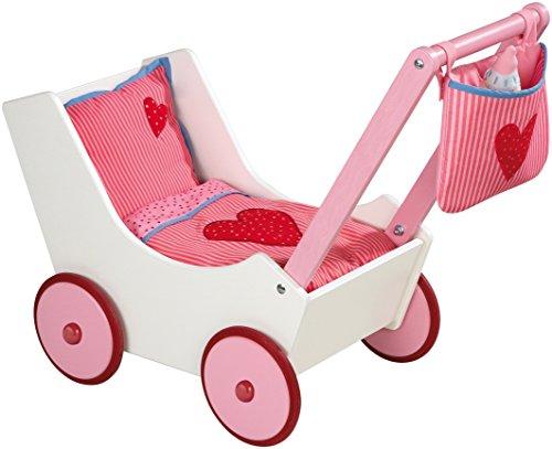 HABA 2660 Puppenwagen mit Tasche und Nuckelflasche