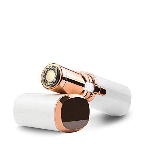 Elektrisch Rasierer,Ayam Gesichtshaarentferner für frauen,Trimmer für Frauen,Gesichtshaarentferner Schmerzfreie Sanfte und Schnelle Haarentfernung Pocket shaver mit Eingebauter LED-Licht