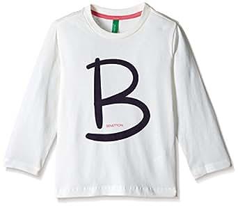 United Colors of Benetton Boys' T-Shirt (16A3096C141LIK44L_Off White_L)