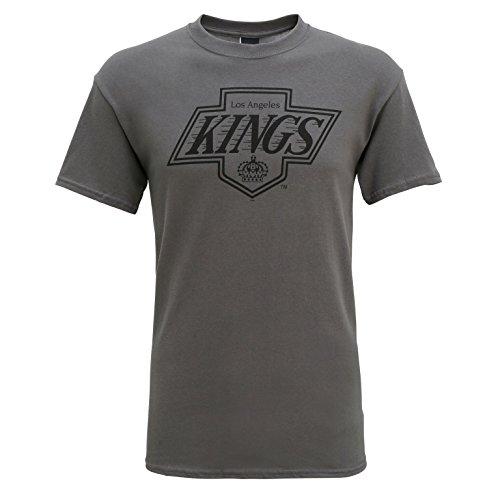 American Sports Merchandise Herren LA Kings Offizielle Los Angeles Eishockey Logo T-Shirt, Grau, Small
