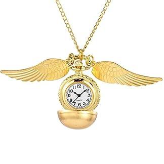 Gorben-Goldener-Schnatz-Taschenuhr-mit-Halskette-in-Box
