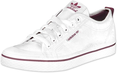 adidas Honey Low W Schuhe 6,5 white/noble crimson