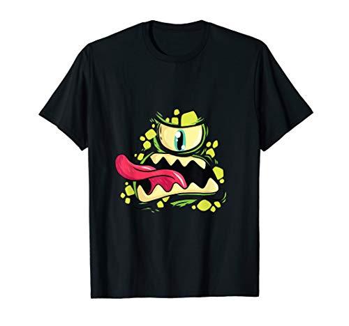 Halloween Horror Shirt Grusel Deko Zyklop Monster Kopf T-Shirt