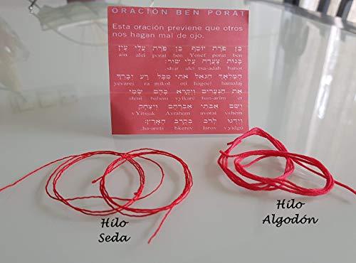 Pulsera KABBALAH de Hilo Rojo, Red KABBALAH Bracelet, talismán, amuleto, protección mal de ojo, buena suerte, good luck, Red String