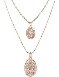 KnBoB Ketten Für Damen Kette Mehrreihig Gold Y-Kette Jungfrau Maria  Anhänger Halskette Halskette Vintage ca5dda2948