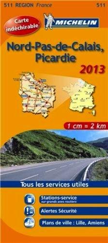 Carte REGION Nord Pas de Calais / Picardie 2013 n°511