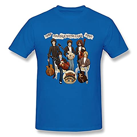 Mokro T-shirt Herren T-Shirt Gr. Medium, Schwarz - Königsblau (Country-christmas Music Online Radio)