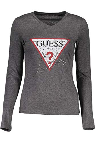 Guess Jeans W91I58K46D0 T-Shirt mit Langen Ärmeln Damen Grigio MCH M