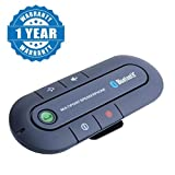 #10: Captcha Portable Multipoint Wireless Hands-Free Bluetooth Sun Visor In-Car Speaker phone Car Kit Suitable with all Android or Iphone Devices (1 Year Warranty, Color May Vary)