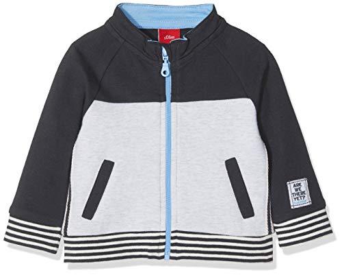 s.Oliver Baby-Jungen 65.901.43.3031 Sweatjacke, Grau (Dark Grey 9887), 92
