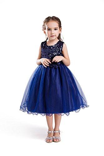 ELSA & ANNA® Top Qualität Mädchen Prinzessin Kleid Hochzeitskleid Verrücktes Kleid Brautjungfer Kleid Weihnachtsfest kleid Partei Kostüm Outfit DE-BLU-PDS01 (10-11 Jahre, PDBLU01)