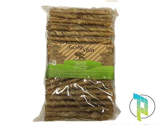 Palucart 100 Bastoncini Cane Bastoncini Pelle Bufalo per Cani Snack Dentale Naturale in Pelle di Bufalo Grezza, Senza conservanti