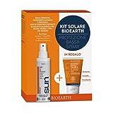 BIOEARTH - Sonnencreme Travel Kit SPF6 - Sonnenspray Creme + Sonnenshampoo/Bodywash - ICEA & Nickel getestet Zertifiziert - Duftfrei - Natürliche und organische Inhaltsstoffe