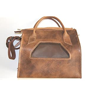 Exclusive Real Leather Dog and Cat Carrier Bag Size: XS/S 41Jl1oxFzUL