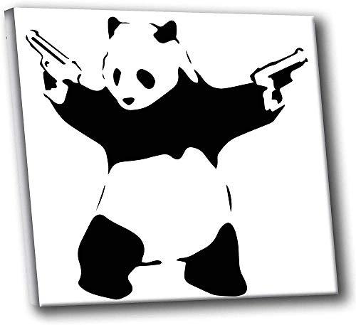 Großer Panda Mit Pistole Graffiti Poster Aufkleber Für Kindergarten Studie Kinderzimmer, Mobile Vinyl Wohnzimmer Restaurant Cafe Dekoration Aufkleber