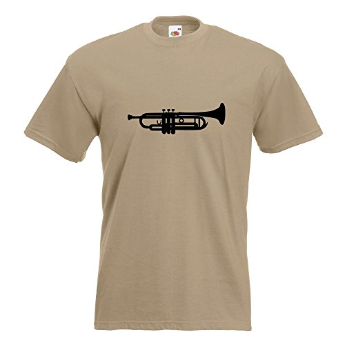 KIWISTAR - Trompete T-Shirt in 15 verschiedenen Farben - Herren Funshirt bedruckt Design Sprüche Spruch Motive Oberteil Baumwolle Print Größe S M L XL XXL Khaki