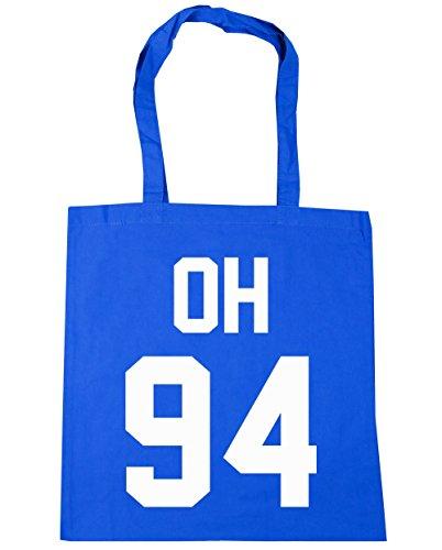 hippowarehouse-damen-strandtasche-gr-one-size-kornblume-blau