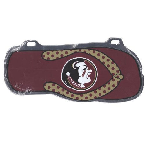 Craftique Florida State Seminolen Flip Flop Auto Tag Fsu Fan-tag