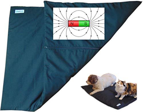 2 Teilige Wasserabweisende Magnetfeldtherapie, Magnetfeldmatte, Magnetfelddecke für Hunde, Katzen und Pferde ideal bei Arthrose, Ellenbogendysplasie, Alterschwäche usw. 5000 gauss Leistung in Schwarz