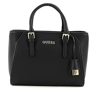 Guess Damen Sissi Small Satchel Handtaschen, Schwarz (Nero), One Size