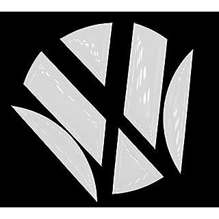 Finest-Folia 3D Emblem Gel Aufkleber hinten (Weiß Hochglanz)