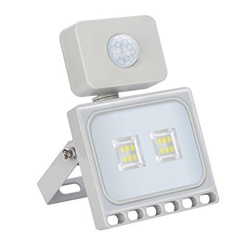 10W LED Strahler mit Bewegungsmelder, 800LM Superhell Außenstrahler LED Fluter 6000K Kaltweiß,IP65 wasserdicht, Flutlichtstrahler Scheinwerfer Licht Wandleuchte für Garten Garage Hof -