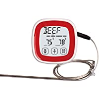 Griglia Per Il Barbecue termometro, iParaAiluRy forno touchscreen termometro digitale