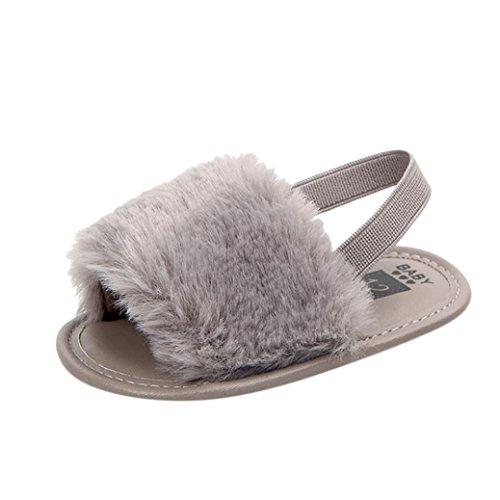 Coupon Matrix - Toddler Sandals Flip Flops,Interent Newborn Infant Baby Letter Solid Flock Soft Sandals Slipper Casual Shoes for 0-12 Months (Age:6-9Months, Gray)