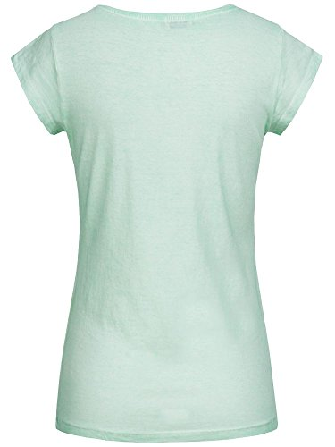 Fresh Made Damen T-Shirt Top Cupcake LFM-122 Pailletten Frontprint Pastel Green