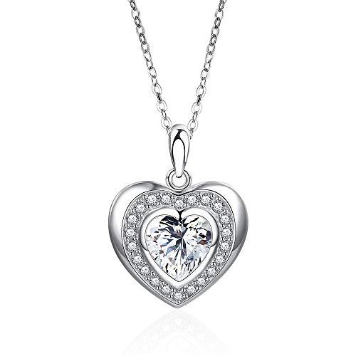 S925 herzförmige Halskette weiblichen einfachen Sterling Silber Anhänger kleine frische Kunst Student Schlüsselbein Kette -