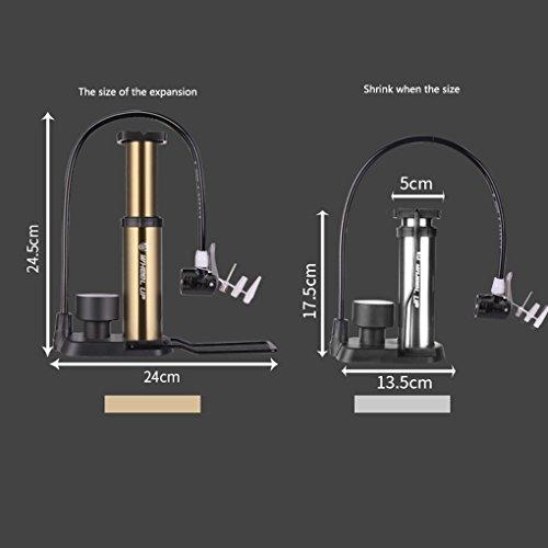 LUFA Mini Portable Fuß Schritt Pumpe Ultra-Licht Mountain Bike Elektrische Fahrrad Luftdruckmesser Pumpe für Fußball Basketball Volleyball und Straße Fahrrad Reifen golden