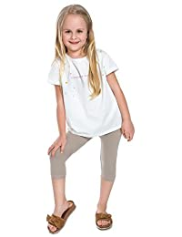 hi!mom Corto Infantil 3/4 Leggings de Algodón Básico Liso Infantil Pantalones Capri