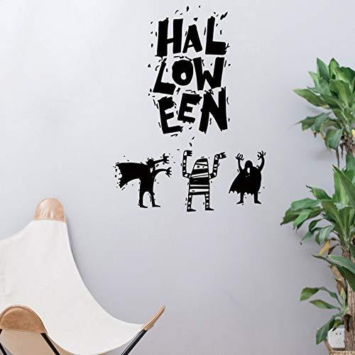 Yzybz Neue Halloween-Spaß-Wandaufkleber Hexe-Hintergrund Verzierte Wohnzimmer-Schlafzimmer-Wandaufkleber-Shopdekoration
