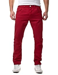Sky Rebel Herren Chinos Anti-Fit Chino Hose 15227, 15400 dark red, W34/L34